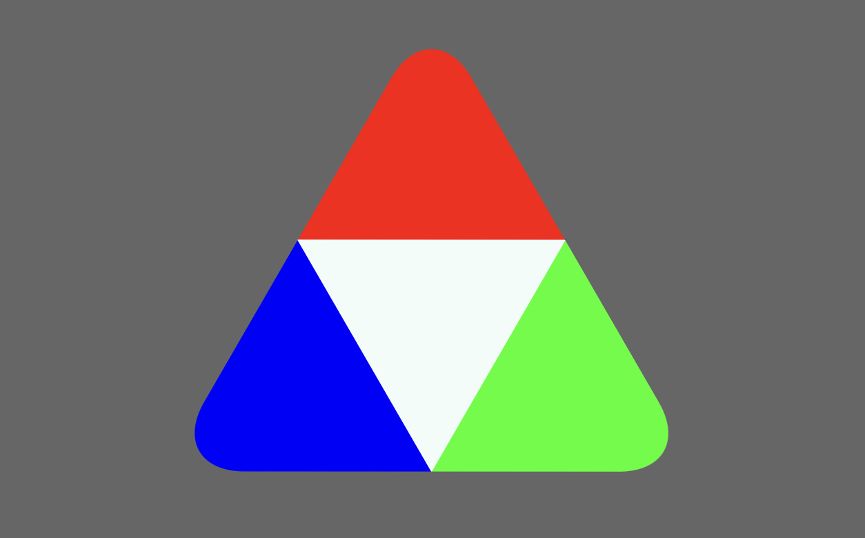 triangle with rounded corners